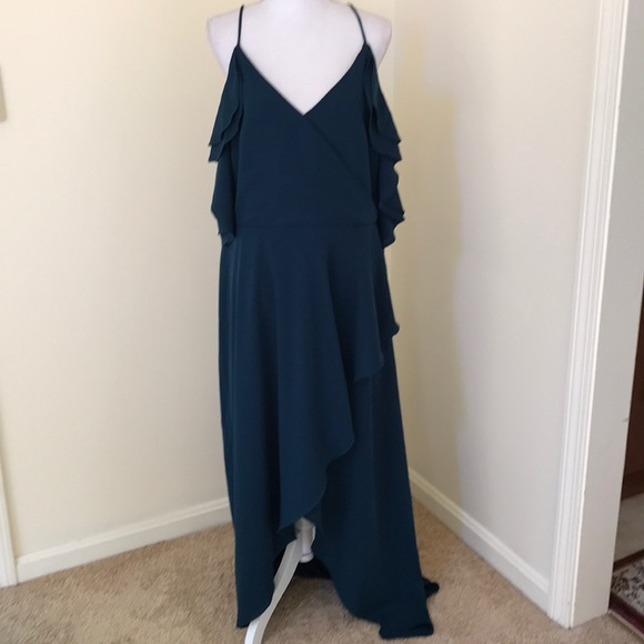 City Chic Dresses & Skirts - NWT! City Chic Size L/20 high low emerald maxi